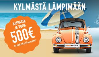 Katsasta ja voita 500€ matkalahjakortti kylmästä lämpimään