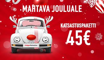 Mahtava jouluale - Katsastuspaketti alk. 45€