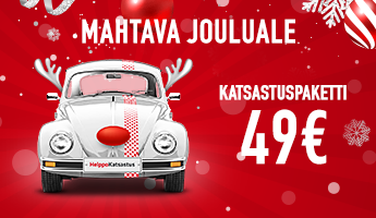 Mahtava jouluale - Katsastuspaketti alk. 49€